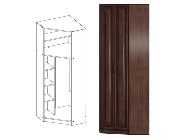 Модульная гостиная эльза. шкаф угловой св-421. мебельная фаб.